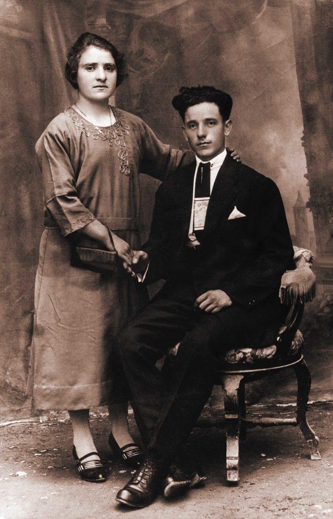 Foto Aurelio Martini - 1928: foto di fidanzamento di Giuseppina Pagnan e Giuseppe Martini