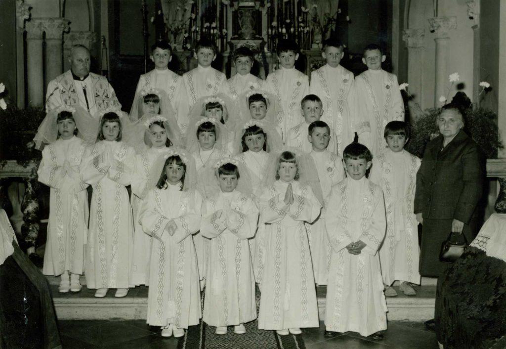 Foto Edda Quaggiotto - La prima comunione della classe 1962