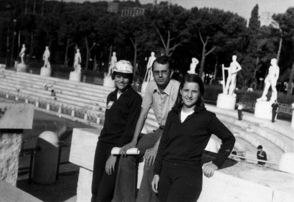 Foto Edda Quaggiotto - 1972: giochi della gioventù, lo stadio dei marmi a Roma