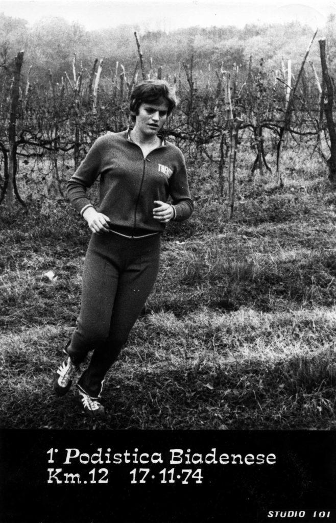 Foto Edda Quaggiotto - 17 novembre 1974: corsa podistica a Biadene