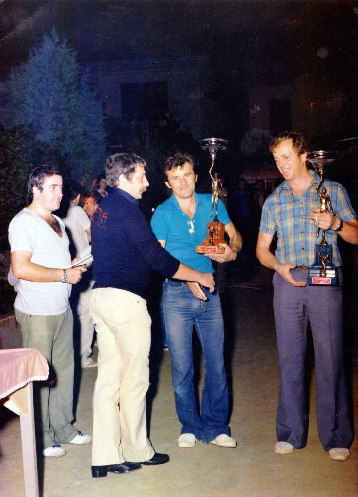 Foto Enrico Soligo - La Società Bocciofila Alpina: premiazione dopo una gara