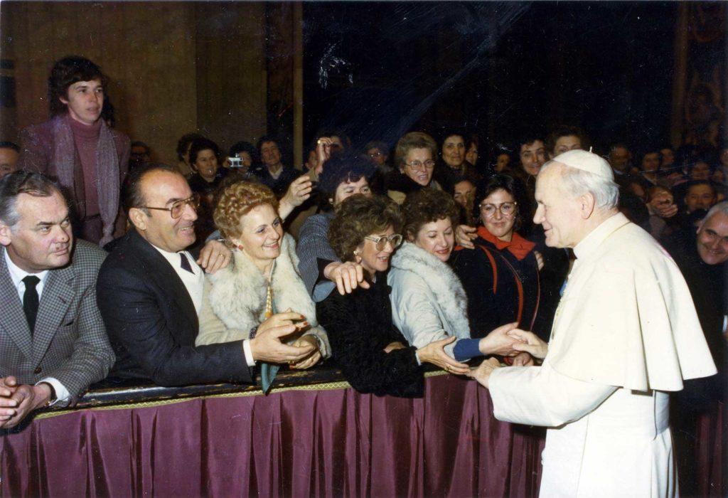 Foto Guido Mardegan - Udienza da Papa Giovanni Paolo II