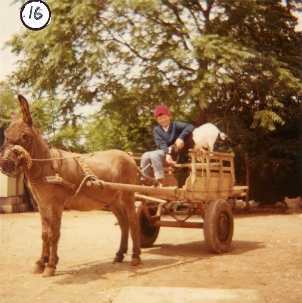 Foto Mario Soligo - 1972: mezzo di trasporto alternativo ed ecologico