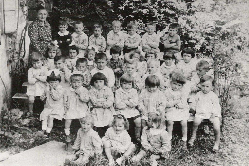Foto Maurizio Soligo - 06 giugno 1961: bambini dell'asilo classi 1956, 1957, 1958 e 1959