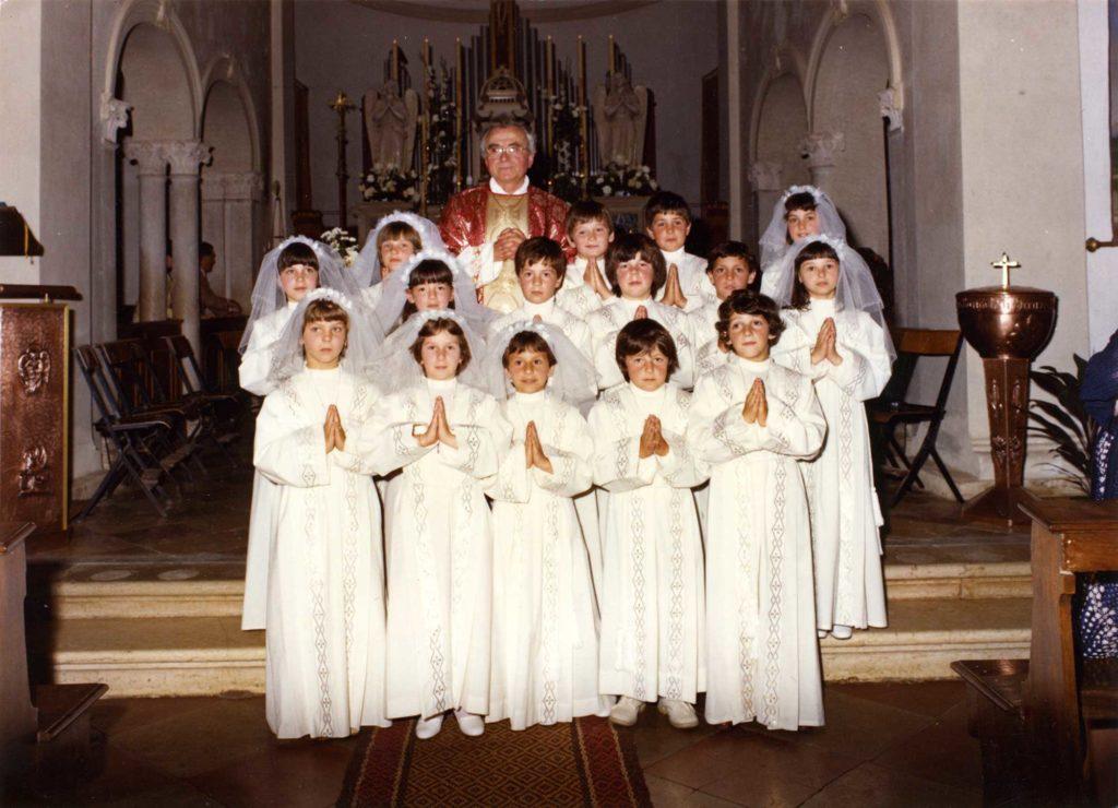 Foto Gianni Perin - La prima comunione della classe 1974