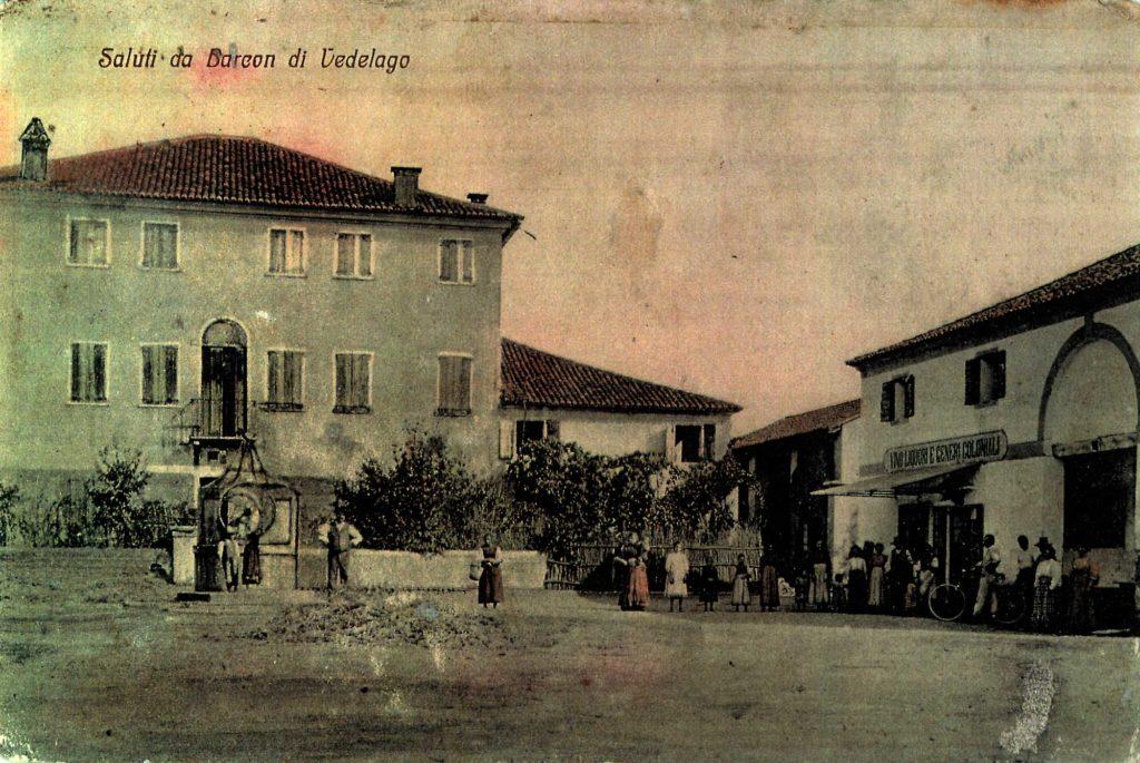 Cartolina postale - Saluti da Barcon di Vedelago