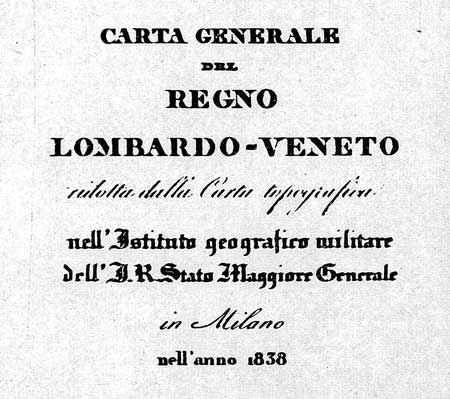 Regno Lombardo-Veneto: 1838