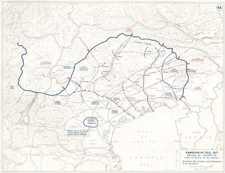 Campagna in Italia, 1917. Battaglia di Caporetto