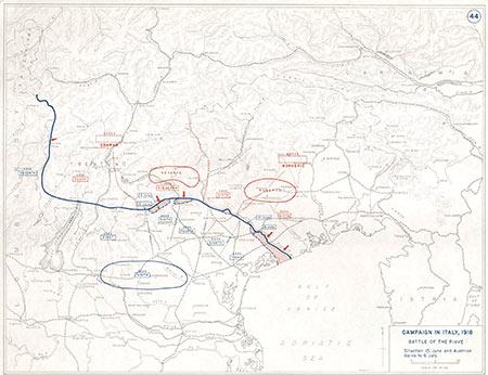 Campagna in Italia, 1918. La battaglia del Piave.