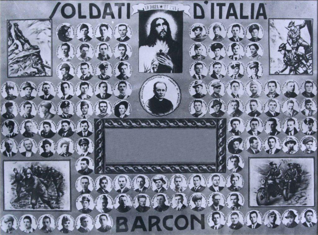 Soldati D'Italia - In memoria dei caduti di Barcon nelle guerre mondiali.