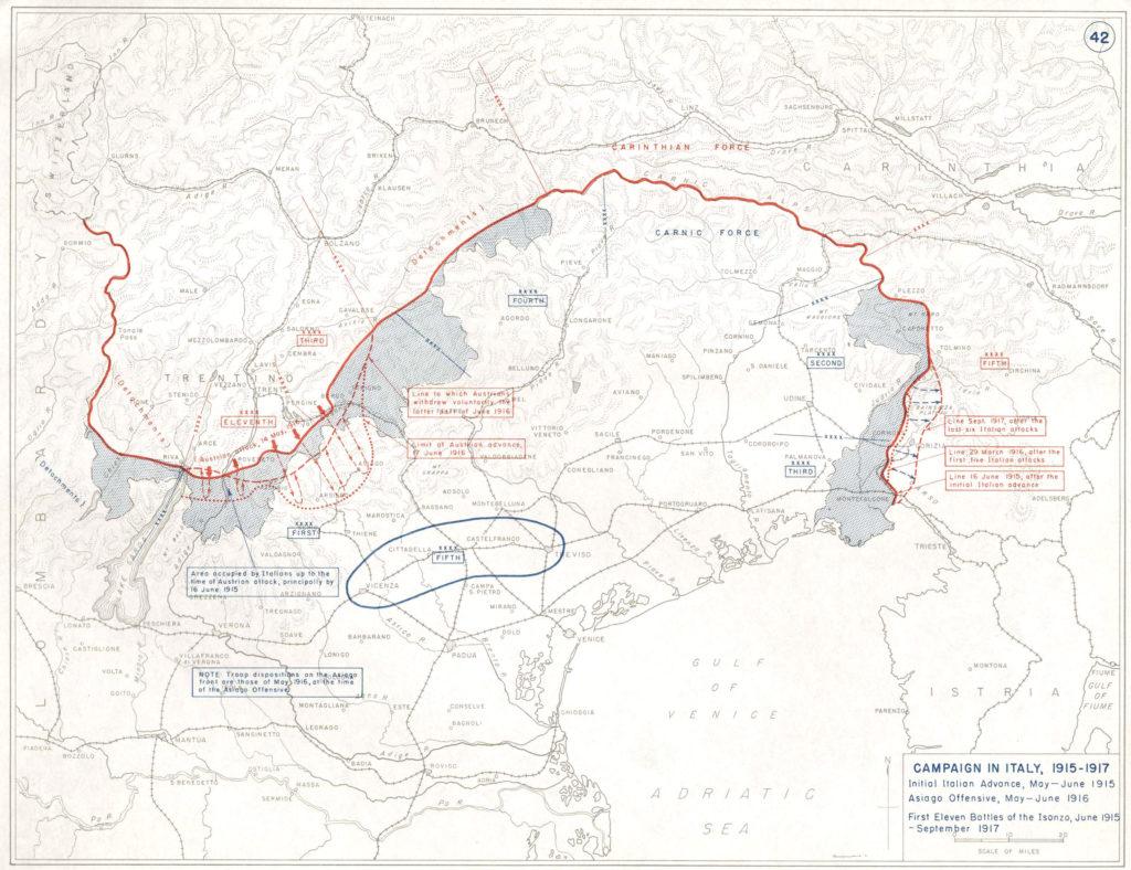 Campagna in Italia, 1915-1917