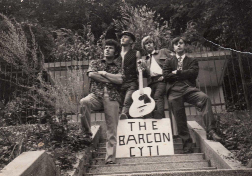 Foto Sergio Pasqualotto - The Barcon Cyti: Adolfo, Achille, Luigino e Sergio 30-8-1967